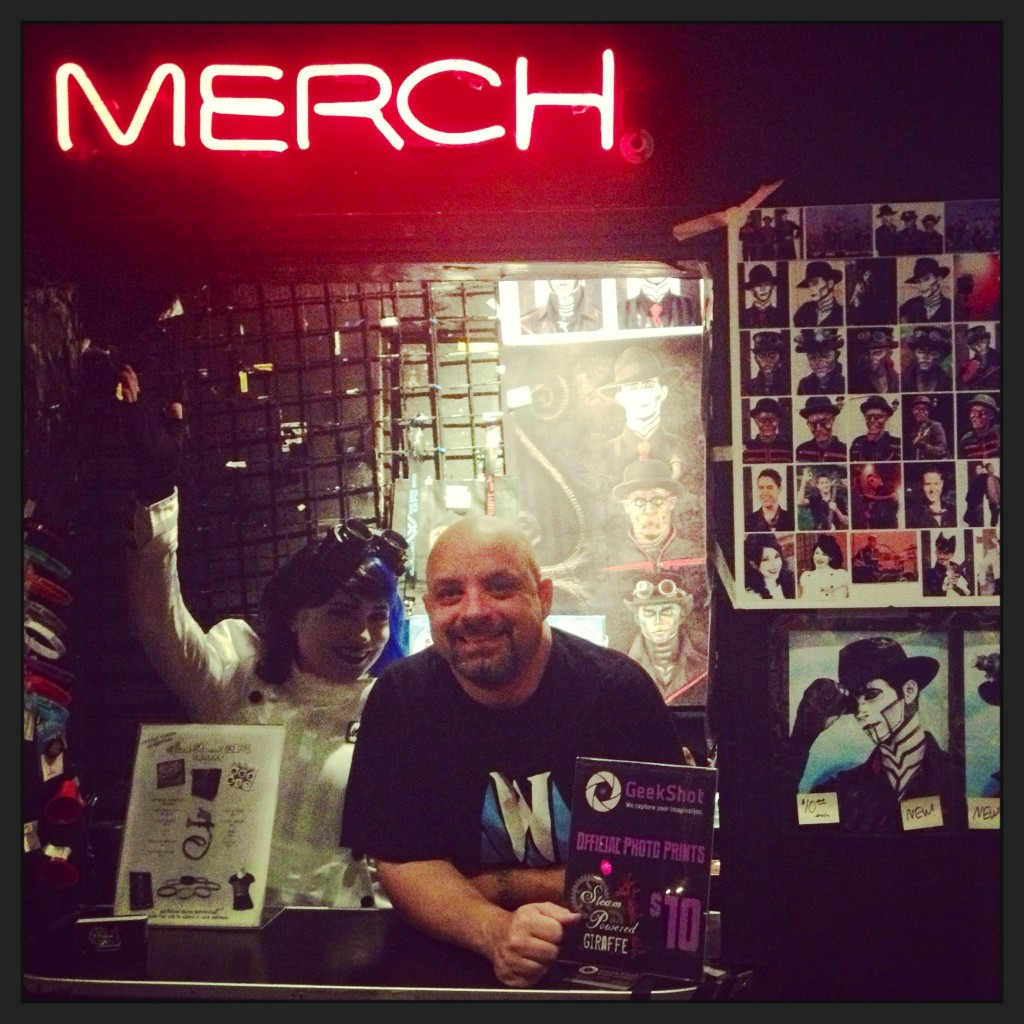 The merch booth!